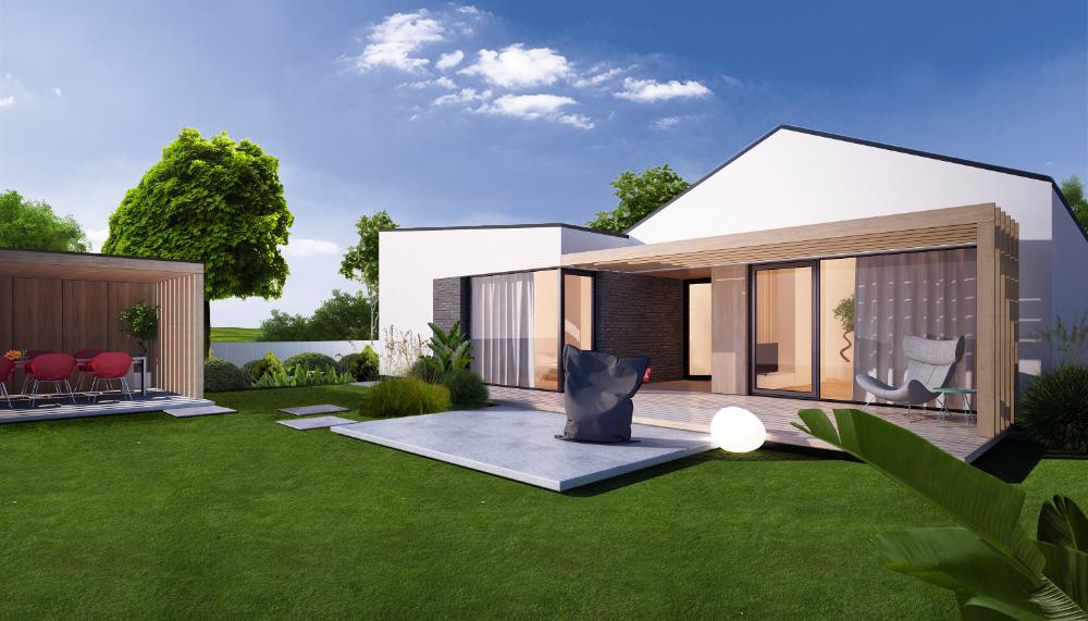 5-izbový rodinný dom v Zálesí - vizualizácia terasa