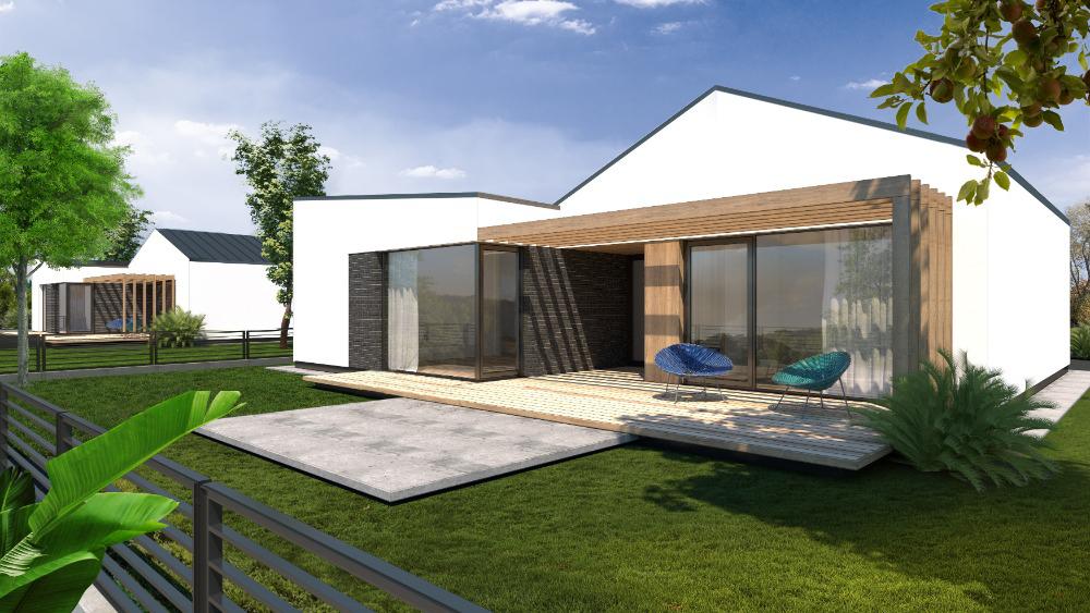 5-izbový rodinný dom v Zálesí - vizualizácia záhrada