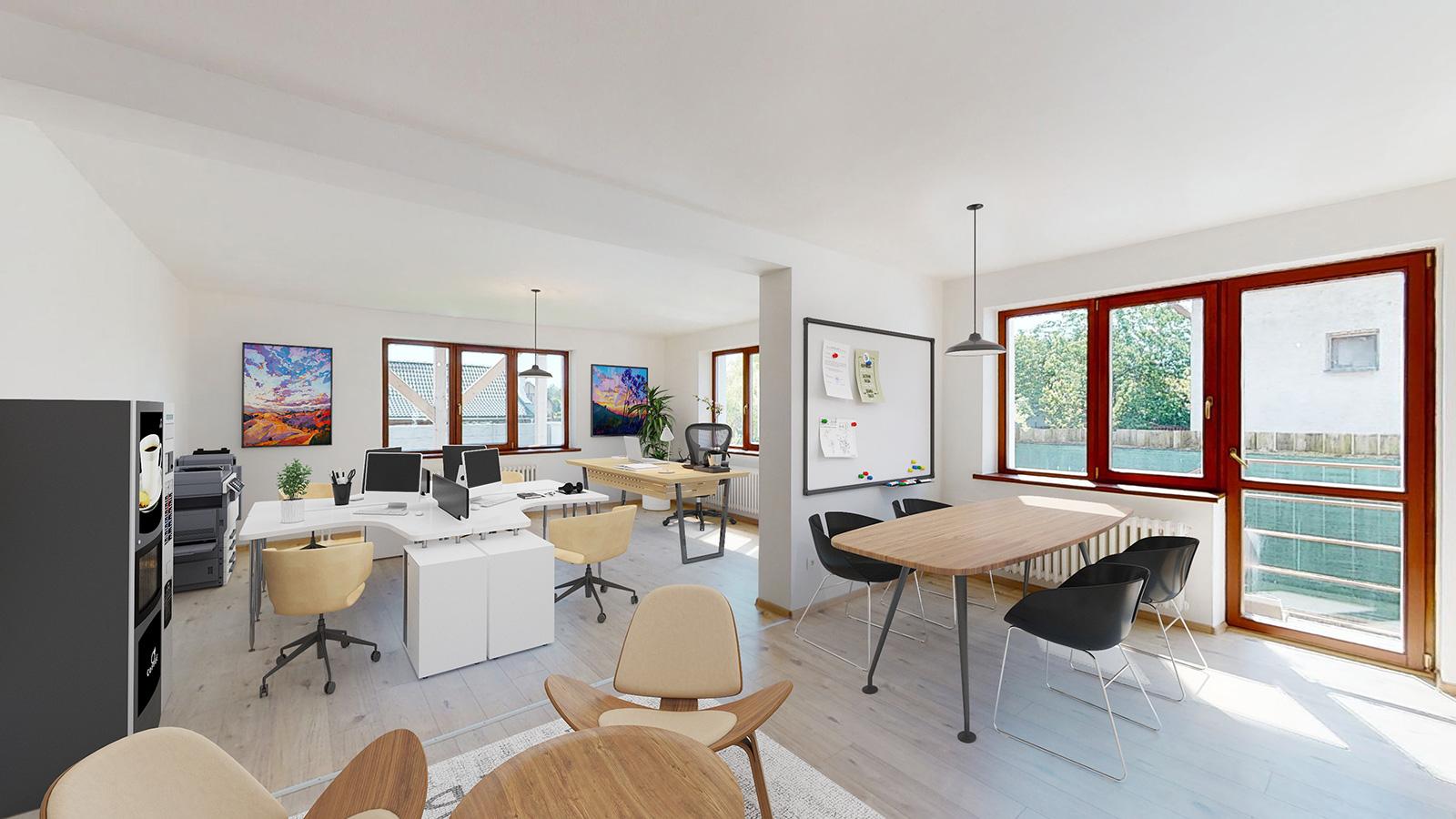 na predaj - Priestranný dvojgeneračný dom 15 min od Bratislavy v Lozorne - vizualizácia kancelárie